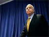 John McCain's decision to suspend his campaign comes as two new polls show him slipping in the head to head matchup against Barack Obama. (AP Photo/Gerald Herbert)